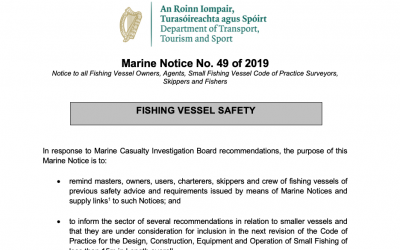 Marine Notice No. 49 of 2019: Fishing Vessel Safety