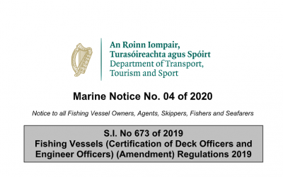 Marine Notice No.04 of 2020: ILO188 Manning