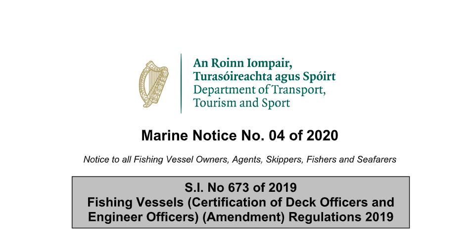 Marine Notice No.04 of 2020: ILO188 Manning