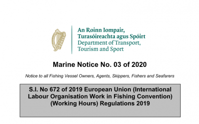 Marine Notice No.03 of 2020: ILO188 Working Hours