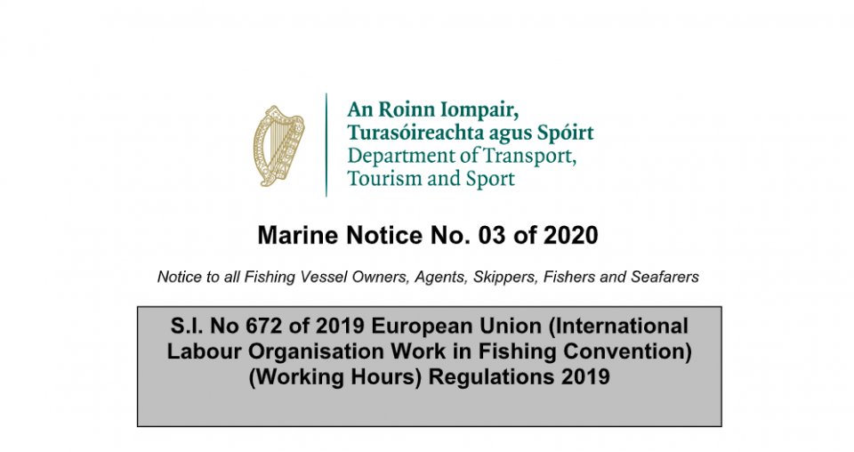 Marine Notice No.03 of 2020: ILO188 Working Hours