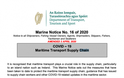 Marine Notice 16 of 2020: COVID-19 Maritime Supply Chain