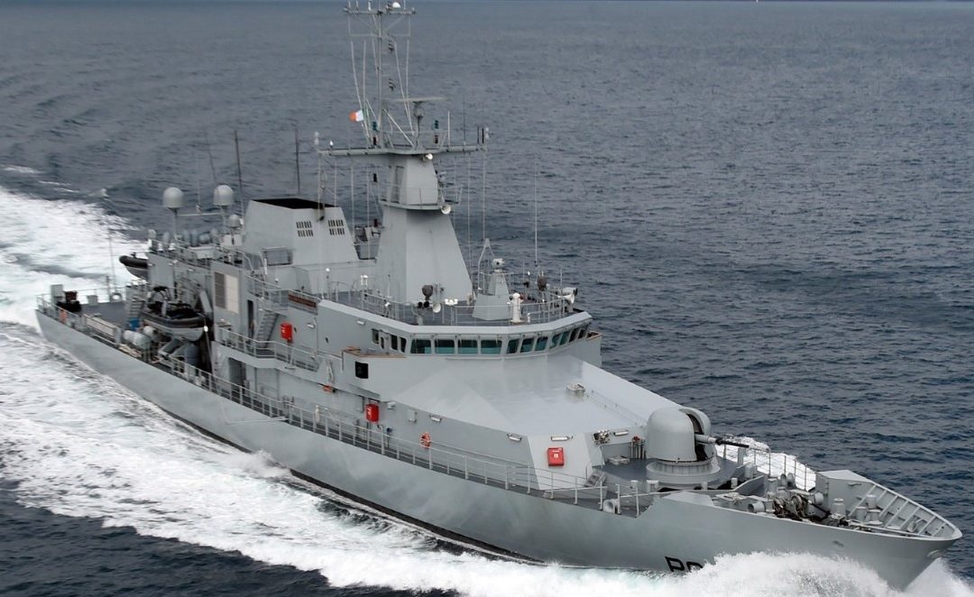 LÉ William Butler Yeats Detains French Registered Fishing Vessel