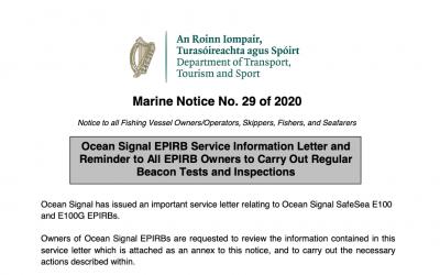Marine notice 29 of 2020: EPIRB service information letter