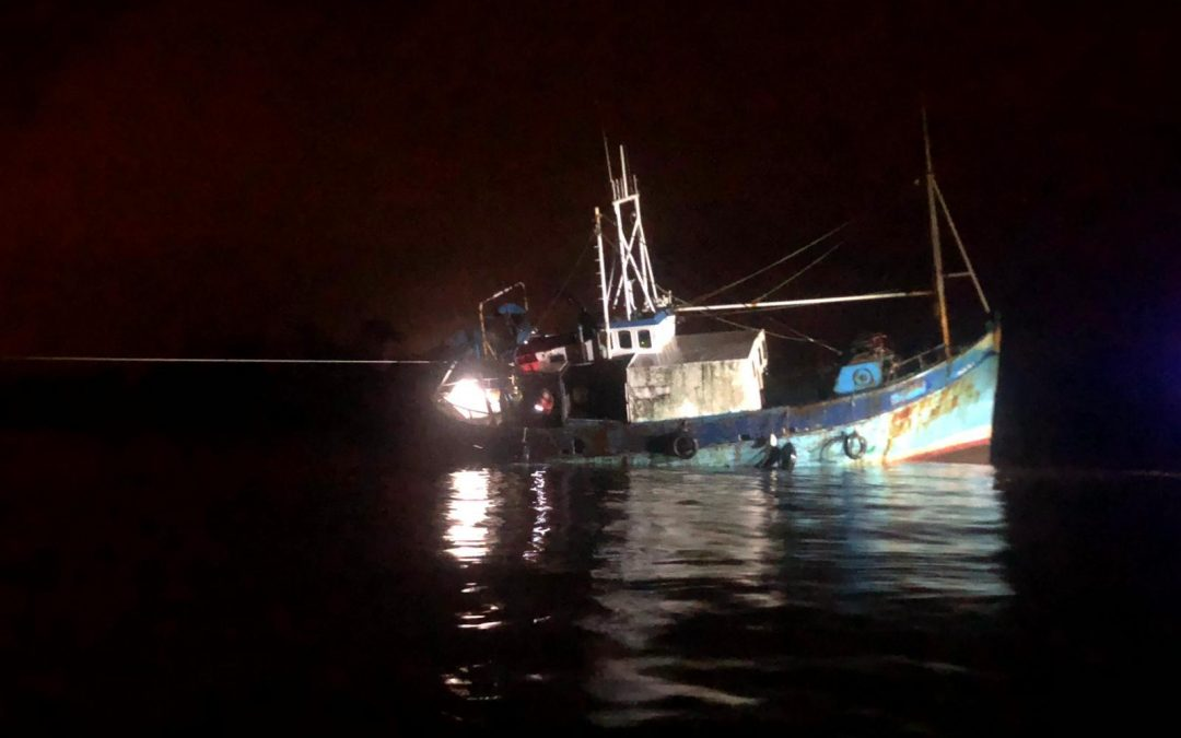 Donaghadee Lifeboat Tows Broken Down Fishing Boat to Safety