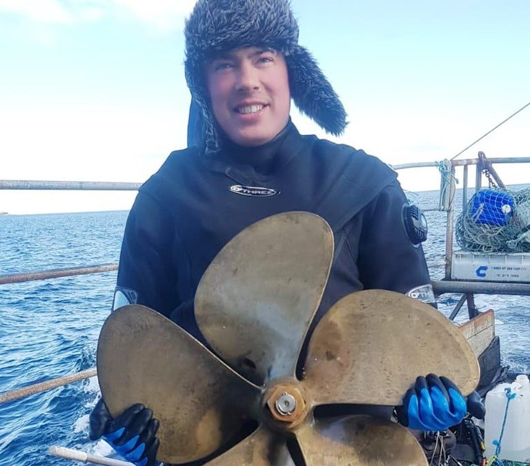 Diving for … propellers – Clements Engineering to the Rescue
