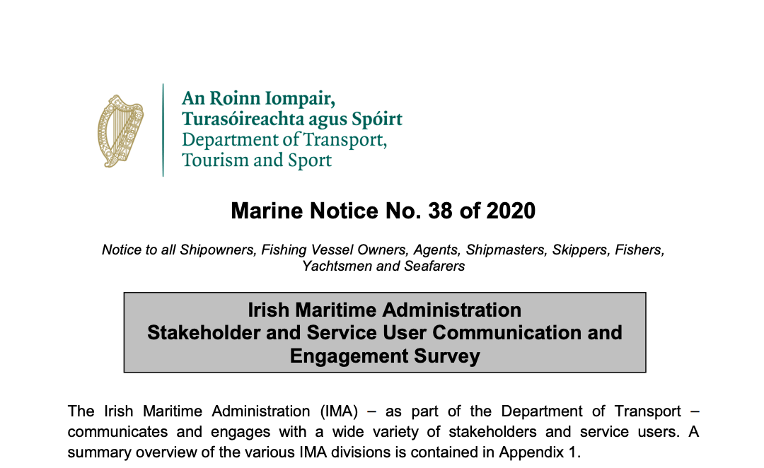 Maritime Administration Stakeholder and User Survey