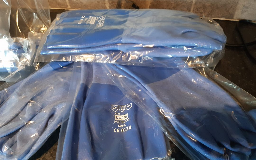 For Sale – Blue Fishing Gloves