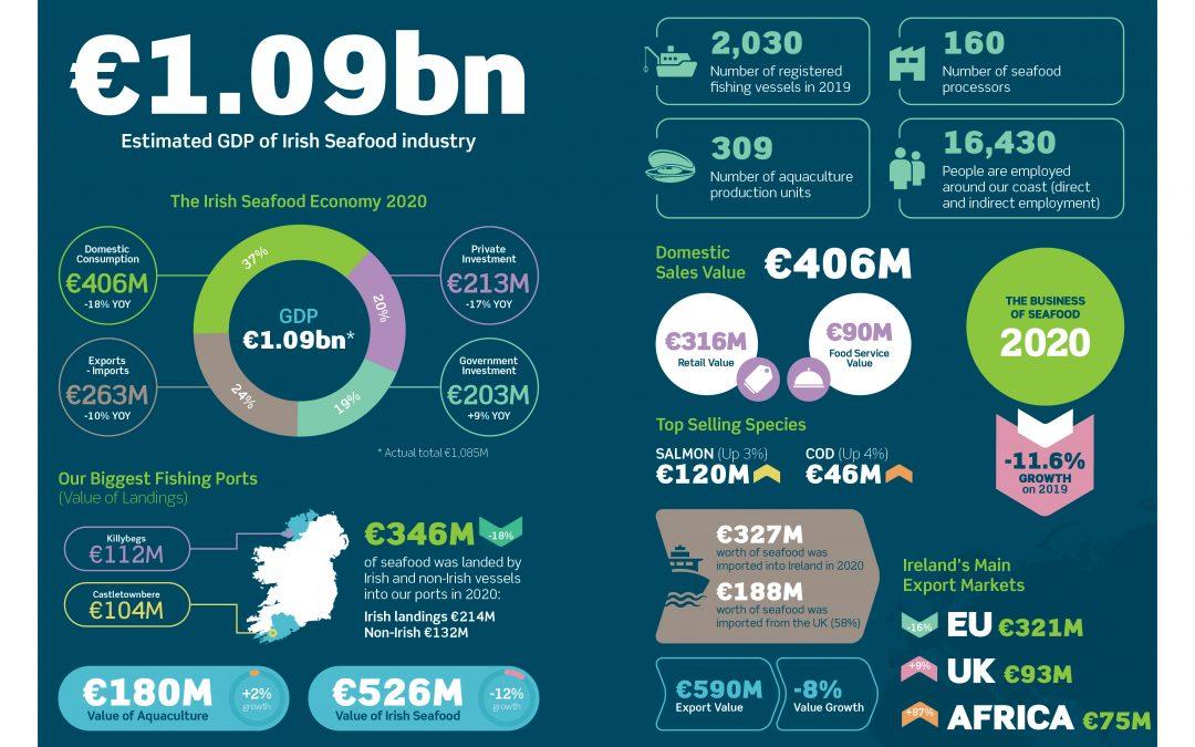 Irish fleet land 26% less fish value in 2020