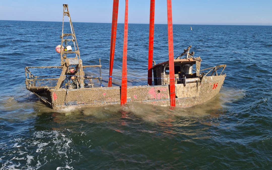 Fishing vessel Nicola Faith recovered from seabed